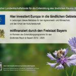 Erläuterungstafel Europäischer Landwirtschaftsfonds für die Entwicklung des ländlichen Raums (ELER)